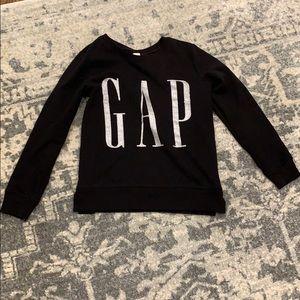 Gap black and silver sweatshirt Sz Small